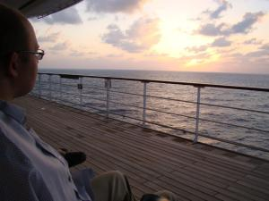 In the Indian Ocean aboard RMS Queen Mary 2, January 2013 (Eva Tomsic).